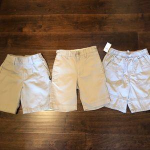 NWT gap and other khaki shorts bundle